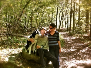 Awwww Nikki, Dan and Winter, climbing has made them love the outdoors and explore without fear!