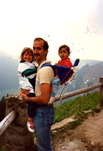 "We moved to Germany to try new medical methods for treating my ""asthma"" when I was 5. We hiked as a family on the weekend. Generally my dad would be carrying me even though I was older than my brother."