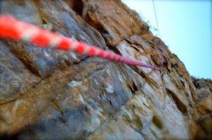 My rope on the climb my precious friend sent, watching her achieve her goals gave me a new perspective.