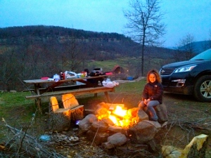 Best part of outdoor climbing, the fun times by the fire with my family