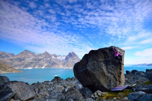 Angie in Greenland, stepping out of her comfort zone.  Photo credit by Keith Ladzinski.
