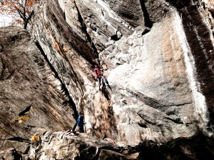 Paul on Jaws II (15a), truly inspiring athlete, work hard, dedication, & passion for climbing.