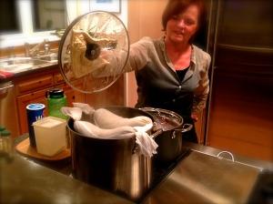 Checking the dough!