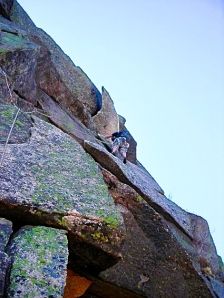 Moby Grape, 5.8, Cannon NH. The Finger of Fate pitch. Photo: Joe Mucci 2013