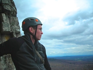 Beginner's Delight, 5.4, Gunks NY. First pitch belay. Photo: Brian Aitken 2013