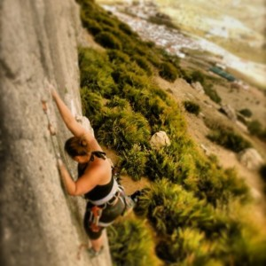 Me, pre-injury, no fear, and no climbing unless its pushing beyond my limits.